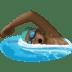 🏊🏿♂️ man swimming: dark skin tone Emoji on Facebook Platform