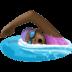 🏊🏿♀️ woman swimming: dark skin tone Emoji on Facebook Platform