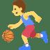 ⛹️ Person Bouncing Ball Emoji on Facebook Platform
