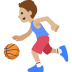 ⛹🏼 person bouncing ball: medium-light skin tone Emoji on Facebook Platform