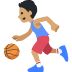 ⛹🏽 person bouncing ball: medium skin tone Emoji on Facebook Platform