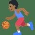 ⛹🏾 person bouncing ball: medium-dark skin tone Emoji on Facebook Platform