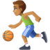 ⛹🏽‍♂️ man bouncing ball: medium skin tone Emoji on Facebook Platform