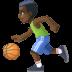 ⛹🏿♂️ man bouncing ball: dark skin tone Emoji on Facebook Platform
