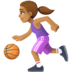 ⛹🏽‍♀️ woman bouncing ball: medium skin tone Emoji on Facebook Platform