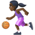 ⛹🏿‍♀️ Dark Skin Tone Woman Bouncing Ball Emoji on Facebook Platform