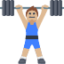 🏋🏼 person lifting weights: medium-light skin tone Emoji on Facebook Platform