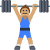 🏋🏽 person lifting weights: medium skin tone Emoji on Facebook Platform