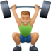 🏋🏼♂️ man lifting weights: medium-light skin tone Emoji on Facebook Platform
