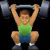 🏋🏽♂️ man lifting weights: medium skin tone Emoji on Facebook Platform