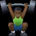 🏋🏿♂️ man lifting weights: dark skin tone Emoji on Facebook Platform