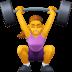 🏋️♀️ woman lifting weights Emoji on Facebook Platform
