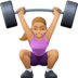 🏋🏼‍♀️ woman lifting weights: medium-light skin tone Emoji on Facebook Platform