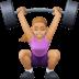 🏋🏼♀️ woman lifting weights: medium-light skin tone Emoji on Facebook Platform