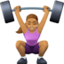 🏋🏽‍♀️ woman lifting weights: medium skin tone Emoji on Facebook Platform