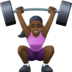 🏋🏿‍♀️ Dark Skin Tone Woman Lifting Weights Emoji on Facebook Platform