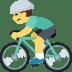 🚴 person biking Emoji on Facebook Platform