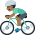 🚴🏾 person biking: medium-dark skin tone Emoji on Facebook Platform