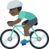 🚴🏿 person biking: dark skin tone Emoji on Facebook Platform