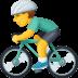 🚴♂️ man biking Emoji on Facebook Platform