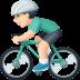 🚴🏻♂️ man biking: light skin tone Emoji on Facebook Platform