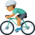🚴🏽‍♂️ man biking: medium skin tone Emoji on Facebook Platform