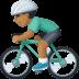 🚴🏾♂️ man biking: medium-dark skin tone Emoji on Facebook Platform