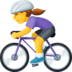 🚴♀️ woman biking Emoji on Facebook Platform