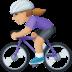 🚴🏼♀️ woman biking: medium-light skin tone Emoji on Facebook Platform