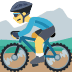 🚵 person mountain biking Emoji on Facebook Platform