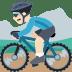 🚵🏻 person mountain biking: light skin tone Emoji on Facebook Platform