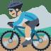 🚵🏼 person mountain biking: medium-light skin tone Emoji on Facebook Platform