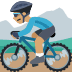 🚵🏽 person mountain biking: medium skin tone Emoji on Facebook Platform
