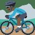 🚵🏿 person mountain biking: dark skin tone Emoji on Facebook Platform