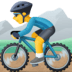🚵‍♂️ man mountain biking Emoji on Facebook Platform