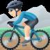 🚵🏻♂️ man mountain biking: light skin tone Emoji on Facebook Platform