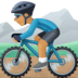 🚵🏽‍♂️ man mountain biking: medium skin tone Emoji on Facebook Platform