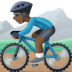 🚵🏿‍♂️ man mountain biking: dark skin tone Emoji on Facebook Platform