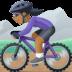 🚵🏾♀️ woman mountain biking: medium-dark skin tone Emoji on Facebook Platform