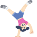🤸🏻 person cartwheeling: light skin tone Emoji on Facebook Platform