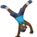 🤸🏿‍♂️ Dark Skin Tone Man Cartwheeling Emoji on Facebook Platform