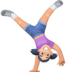 🤸🏻‍♀️ woman cartwheeling: light skin tone Emoji on Facebook Platform