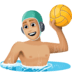 🤽🏼‍♂️ man playing water polo: medium-light skin tone Emoji on Facebook Platform