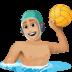 🤽🏼♂️ man playing water polo: medium-light skin tone Emoji on Facebook Platform