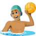 🤽🏽‍♂️ man playing water polo: medium skin tone Emoji on Facebook Platform