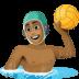 🤽🏾♂️ man playing water polo: medium-dark skin tone Emoji on Facebook Platform