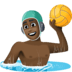 🤽🏿‍♂️ man playing water polo: dark skin tone Emoji on Facebook Platform