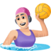 🤽🏻‍♀️ woman playing water polo: light skin tone Emoji on Facebook Platform