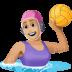 🤽🏼♀️ woman playing water polo: medium-light skin tone Emoji on Facebook Platform