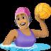 🤽🏽♀️ Medium Skin Tone Woman Playing Water Polo Emoji on Facebook Platform